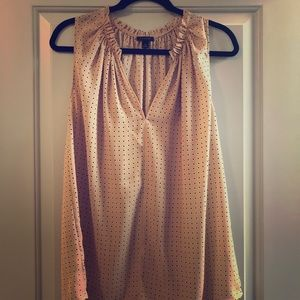 Ann Taylor polka dotted top!